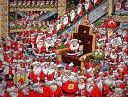 Chaos at Santa's Grotto Christmas Jigsaw Puzzle