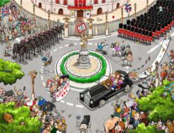 Chaos at the Royal Wedding Cartoons Jigsaw Puzzle