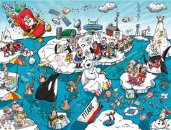 Chaos at the North Pole Snow Jigsaw Puzzle