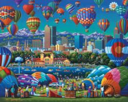 Above Denver Americana & Folk Art Jigsaw Puzzle