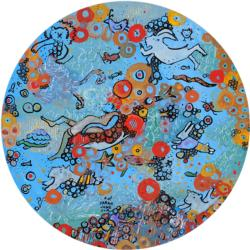 Aquatica Abstract Round Jigsaw Puzzle