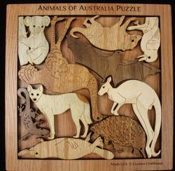 Animals of Australia Puzzle Australia Brain Teaser