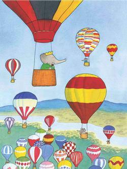 Babar et les Ballons Nostalgic / Retro Large Piece