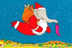 Babar Floor Puzzle - Father Christmas Christmas Children's Puzzles