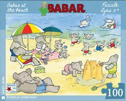 BabarBabar at the Beach Nostalgic / Retro Jigsaw Puzzle