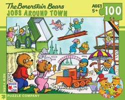 Jobs Around Town (The Berenstain Bears) Nostalgic / Retro Jigsaw Puzzle