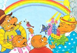 The Berenstain Bears - Under the Rainbow - Floor Puzzle Berenstain Bears Children's Puzzles