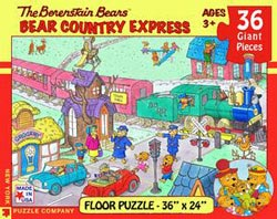 Bear Country Express(The Berenstain Bears) Nostalgic / Retro Jigsaw Puzzle