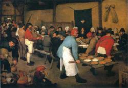 Peasant Wedding by Pieter Bruegel The Elder People