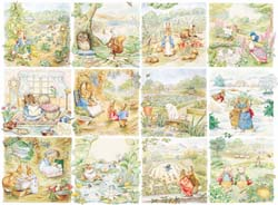 Beatrix Potter - Peter Rabbit, Character Vignettes Collage Children's Puzzles