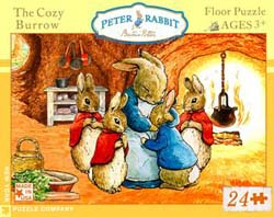 Peter Rabbit, The Cozy Burrow - Floor Nostalgic / Retro Children's Puzzles