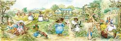 Tom Kitten's Garden (Peter Rabbit) Nostalgic / Retro Panoramic