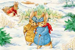 Peter Rabbit Floor Puzzle - Rabbit's Winter Walk Nostalgic / Retro Children's Puzzles