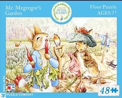 Peter Rabbit Floor Puzzle -Mr. McGreggor's Garden Nostalgic / Retro Children's Puzzles