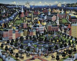 Boston Commons Boston Jigsaw Puzzle