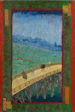 Bridge in the Rain by Van Gogh People