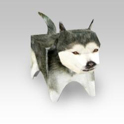 Alaskan Malamute Single Pack (Paper Model) Dogs 3D Puzzle