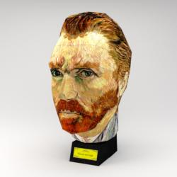 Vincent van Gogh (Paper Model) Famous People 3D Puzzle