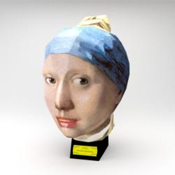 Girl with a Pearl Earring (Paper Model) Movies / Books / TV Jigsaw Puzzle