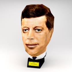 John F Kennedy Famous People Paper Model
