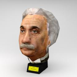 Albert Einstein (Paper Model) Famous People 3D Puzzle