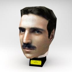 Nikola Tesla (Paper Model) Famous People 3D Puzzle