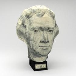 US $2 Bill - Thomas Jefferson History 3D Puzzle
