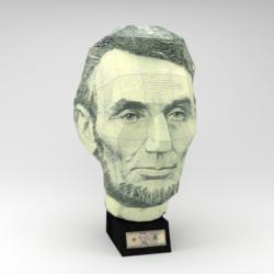 US $5 Bill - Abraham Lincoln (Paper Model) History 3D Puzzle