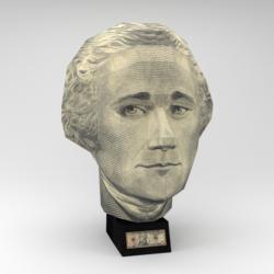 US $10 Bill - Alexander Hamilton (Paper Model) History 3D Puzzle