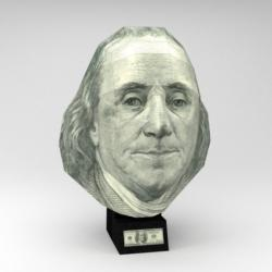 US $100 Bill - Benjamin Franklin (Paper Model) History 3D Puzzle