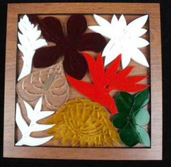 Flower Garden Hawaii - Acrylic Mother's Day Brain Teaser