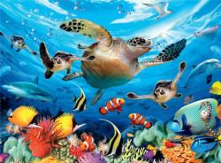 Journey of the Sea Turtles (Undersea) Under The Sea Children's Puzzles