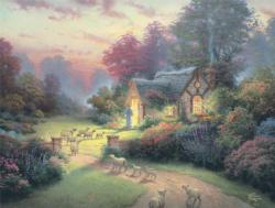 The Good Shepherd's Cottage (Thomas Kinkade Inspirations) Religious Large Piece