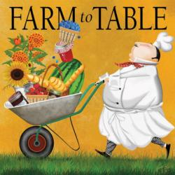 Farm to Table Food and Drink Large Piece
