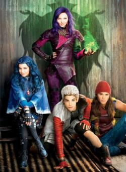 Mal, Evie, Jay & Carlos  (Disney Descendants) Movies / Books / TV Large Piece