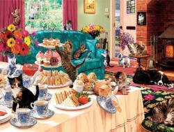Teatime Terrors Domestic Scene Jigsaw Puzzle