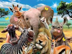 On the Savanna (Selfies) Jungle Animals Jigsaw Puzzle