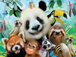 In the Jungle (Selfies) Jungle Animals Jigsaw Puzzle