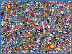 Music (Logo Collages) Collage Jigsaw Puzzle