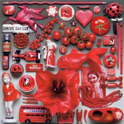 Red Monochromatic Jigsaw Puzzle
