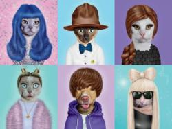 Pop Stars (Pets Rock) Collage Jigsaw Puzzle