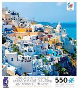 Santorini, Greece (Around the World) Cities Jigsaw Puzzle