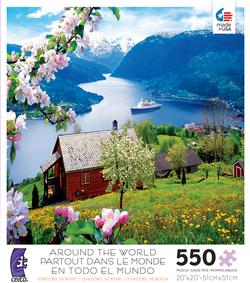 Ulvikfjord, Norway (Around the World) Travel Jigsaw Puzzle