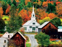Waits River Church, Vermond, New England (Around the World) Cities Jigsaw Puzzle