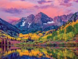 Maroon Bells, Aspen, Colorado (Around the World) Landscape Jigsaw Puzzle