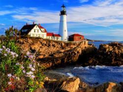 Portland Headlight, Maine, New England (Around the World) Landscape Jigsaw Puzzle