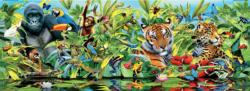 Jungle Panoramic Animals Panoramic Puzzle