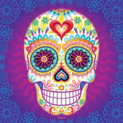 Luminesce (Sugar Skulls) Day of the Dead Jigsaw Puzzle