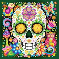 Jardin (Sugar Skulls) Day of the Dead Jigsaw Puzzle