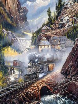 Silver Bell Run (Blaylock) Trains Jigsaw Puzzle